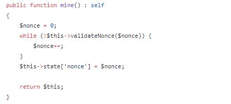 블록체인 마이닝 PHP 예제